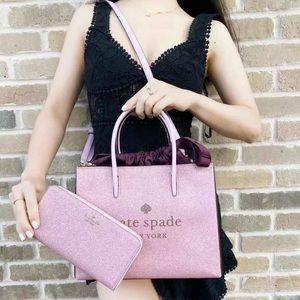 BUNDLE🌸Kate Spade Rose Pink Shopper Tote & Wallet